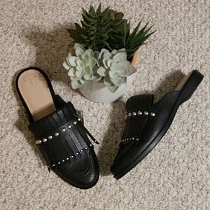NWT, A New Day Black Studded Mules, Size 9.5